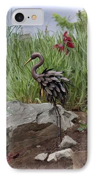 IPhone Case featuring the photograph Crane by Cherie Duran