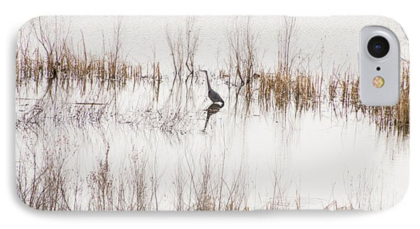 IPhone Case featuring the photograph Crane In Reeds by Laura Pratt