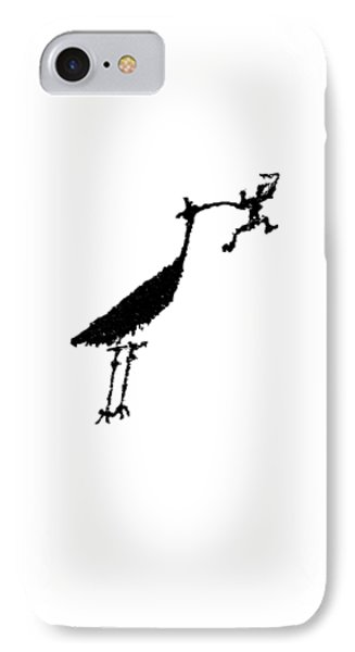 IPhone Case featuring the photograph Crane Petroglyph by Melany Sarafis