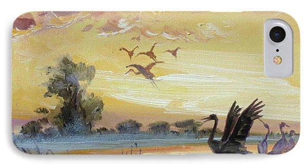 Cranes - Evening Flight IPhone Case by Irek Szelag