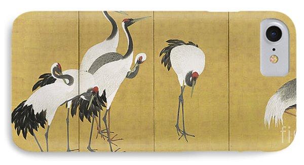 Cranes IPhone 7 Case by Maruyama Okyo