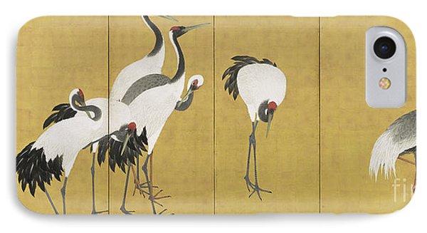Cranes IPhone Case by Maruyama Okyo