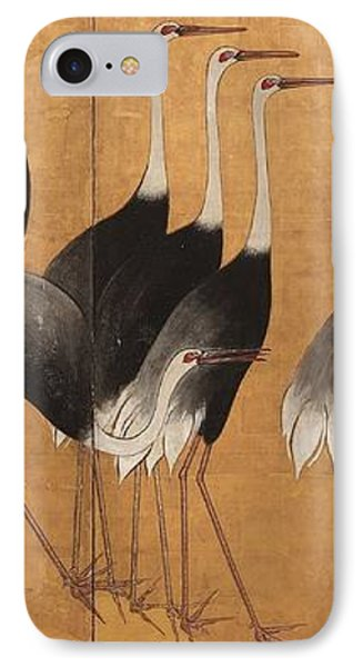 Cranes IPhone Case by Ogata Korin