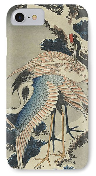 Cranes On Pine IPhone 7 Case by Hokusai