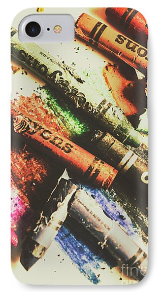 Crash Test Crayons IPhone Case by Jorgo Photography - Wall Art Gallery