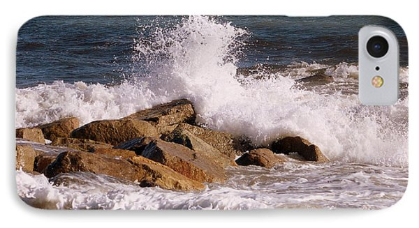 IPhone Case featuring the photograph Crashing Surf On Plum Island by Eunice Miller
