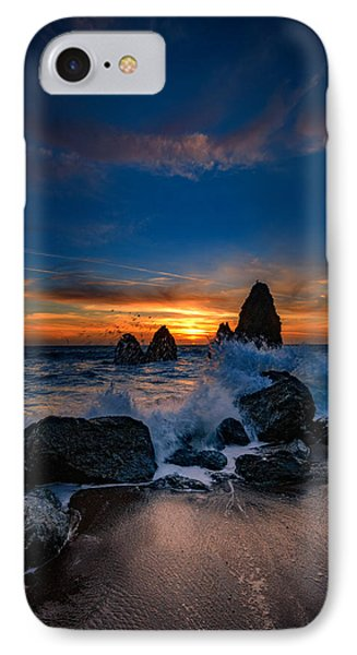 Crashing Waves At Rodeo Beach IPhone Case by Rick Berk