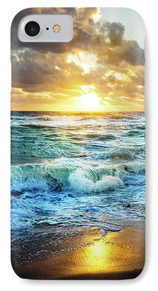 IPhone Case featuring the photograph Crashing Waves Into Shore by Debra and Dave Vanderlaan