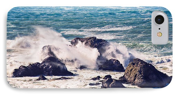 IPhone Case featuring the photograph Crashing Waves by Kim Wilson