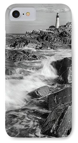 Crashing Waves, Portland Head Light, Cape Elizabeth, Maine  -5605 IPhone Case