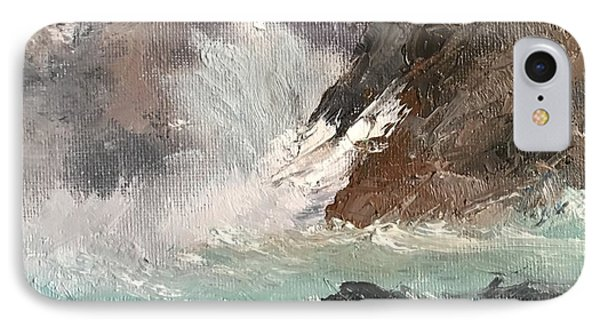 Crashing Waves Seascape Art IPhone Case