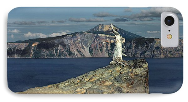 Crater Lake - A Most Sacred Place Among The Indians Of Southern Oregon Phone Case by Christine Till