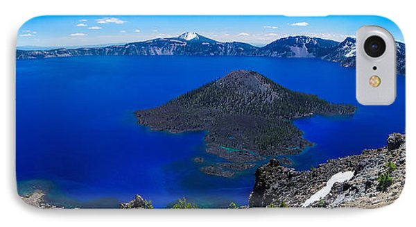 Crater Lake National Park Panoramic IPhone Case by Scott McGuire