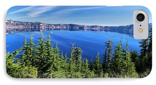 IPhone Case featuring the photograph Crater Lake Rim Reflections by Frank Wilson