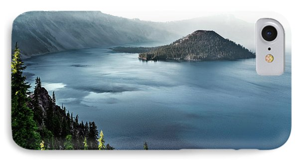 IPhone Case featuring the photograph Crater Lake Under A Siege by Eduard Moldoveanu