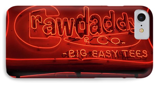 Craw Daddy Neon Sign IPhone Case by Steven Spak