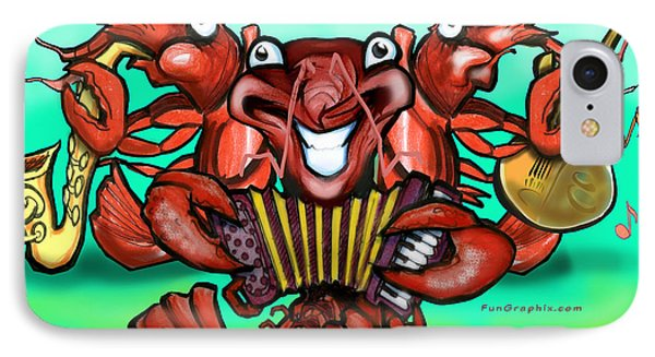 Crawfish Band Phone Case by Kevin Middleton