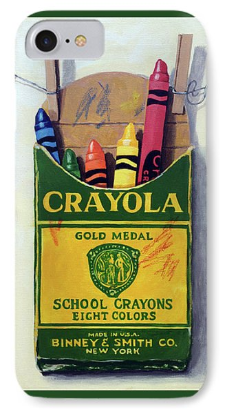 Crayola Crayons Painting IPhone Case