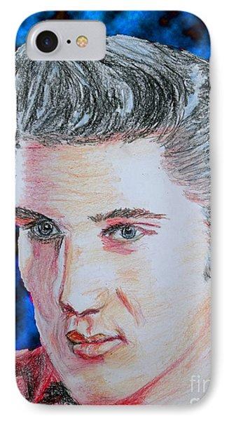Crayon Elvis IPhone Case by Lyric Lucas