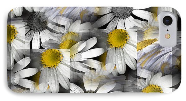 Crazy Daisys IPhone Case by Karen Lewis