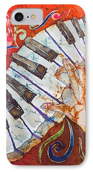 Crazy Fingers - Piano Keyboard  Phone Case by Sue Duda