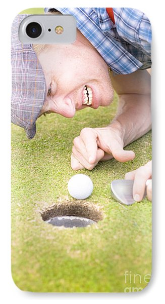Crazy Golfer IPhone Case by Jorgo Photography - Wall Art Gallery