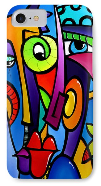 Crazy Hearts IPhone Case