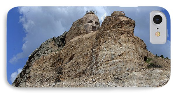 IPhone Case featuring the photograph Crazy Horse by Jerry Cahill