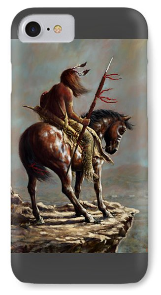 Crazy Horse_digital Study IPhone Case by Harvie Brown