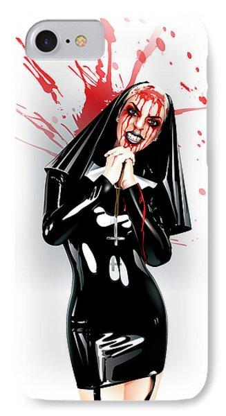 Crazy Nun IPhone Case