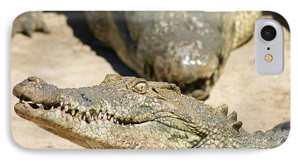 IPhone Case featuring the photograph Crazy Saltwater Crocodile by Gary Crockett
