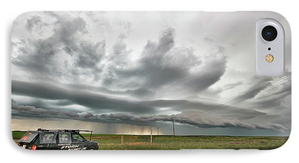 Crazy Shelf Cloud Near Ponteix Sk. IPhone Case by Ryan Crouse