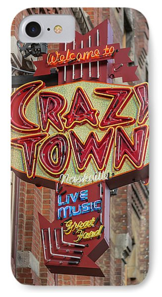 IPhone Case featuring the photograph Crazy Town by Stephen Stookey