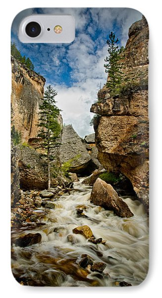 Crazy Woman Canyon IPhone Case by Rikk Flohr