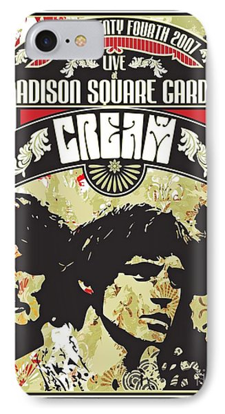 Cream Concert At Madison Square Gardens New York IPhone Case by Pd