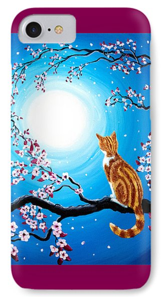 Creamsicle Kitten In Blue Moonlight IPhone Case by Laura Iverson
