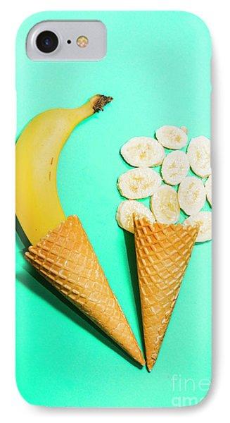 Banana iPhone 7 Case - Creative Banana Ice-cream Still Life Art by Jorgo Photography - Wall Art Gallery