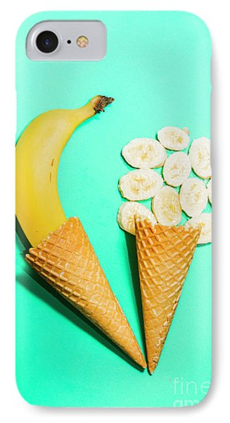 Creative Banana Ice-cream Still Life Art IPhone Case by Jorgo Photography - Wall Art Gallery