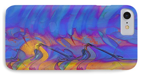 IPhone Case featuring the digital art Creative Motion by Linda Sannuti