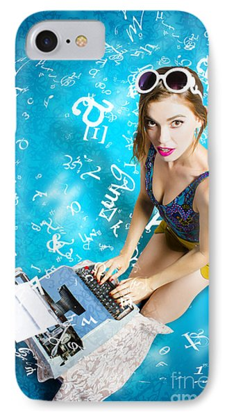 Creative Pin Up Novelist IPhone Case by Jorgo Photography - Wall Art Gallery