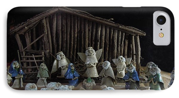Creche Sraight On View Phone Case by Nancy Griswold