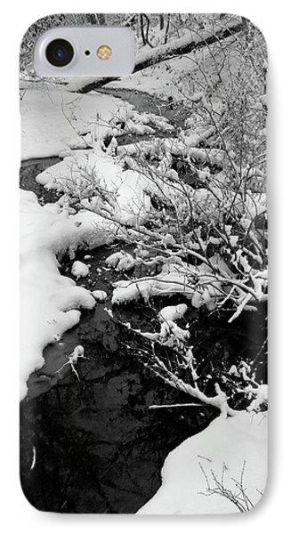 Creek Cloaked In Winter IPhone Case by Scott Kingery