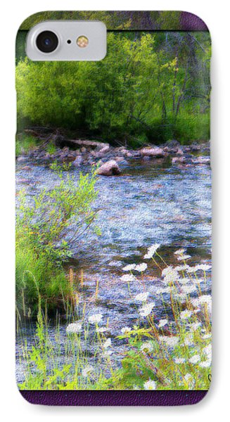 IPhone Case featuring the photograph Creek Daisys by Susan Kinney
