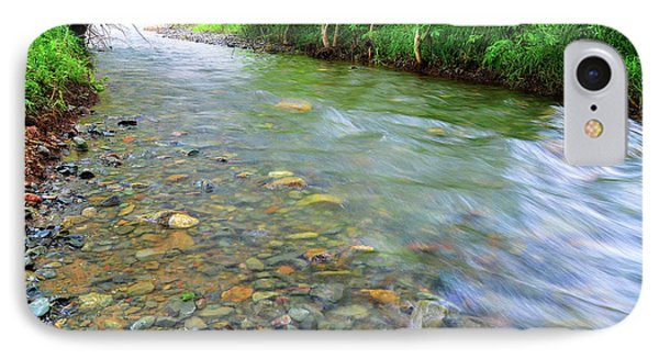 Creek Of Many Colors IPhone Case by Donna Blackhall