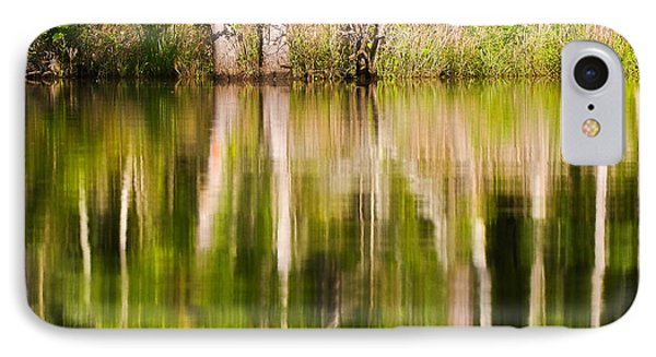 IPhone Case featuring the photograph Creekside Reflections by Bob Decker