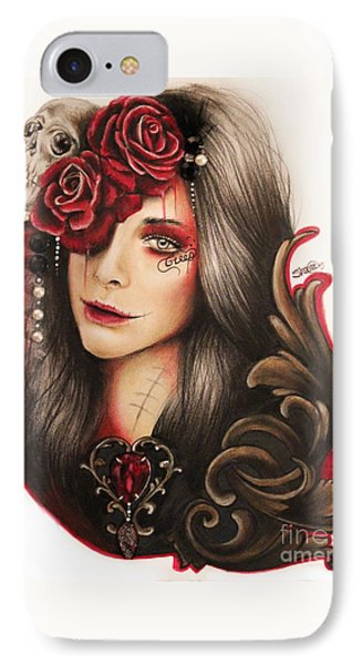 IPhone Case featuring the mixed media Creep  by Sheena Pike