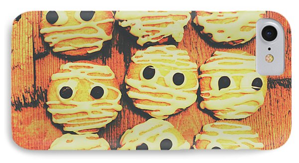 Creepy And Kooky Mummified Cookies  IPhone Case by Jorgo Photography - Wall Art Gallery