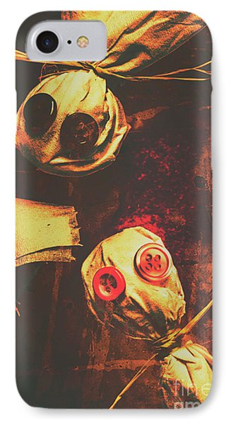 Creepy Halloween Scarecrow Dolls IPhone Case by Jorgo Photography - Wall Art Gallery