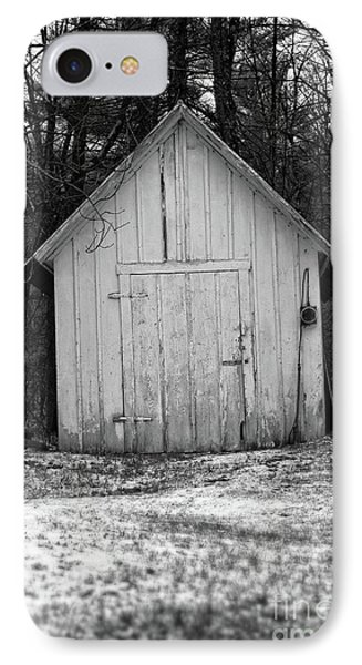 Creepy Old Shed In The Cemetary IPhone Case by Edward Fielding