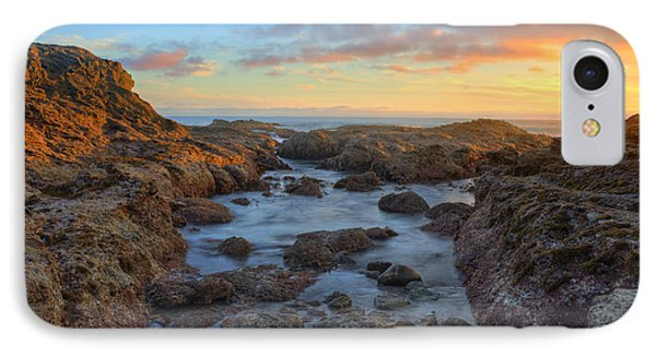 IPhone Case featuring the photograph Crescent Bay Tide Pools At Sunset by Eddie Yerkish